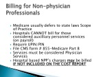 billing for non physician professionals