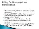 billing for non physician professionals1