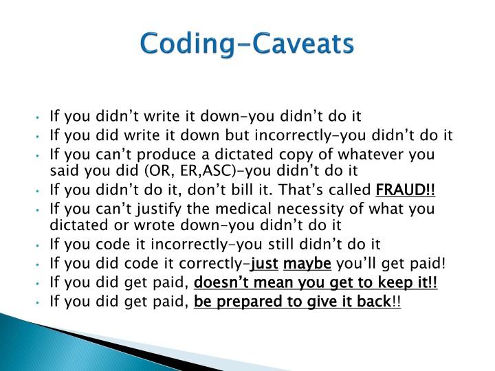Coding-Caveats