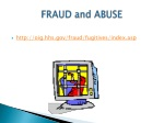 fraud and abuse