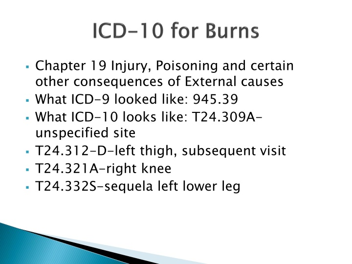 ICD-10 for Burns