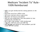 medicare incident to rule 100 reimbursed