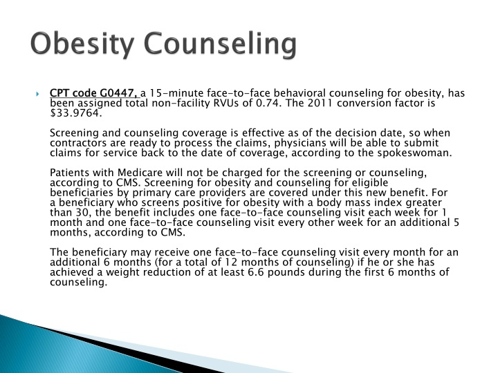 Obesity Counseling