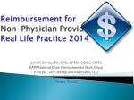 reimbursement for non physician providers real life practice 2014
