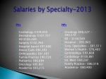 salaries by specialty 2013