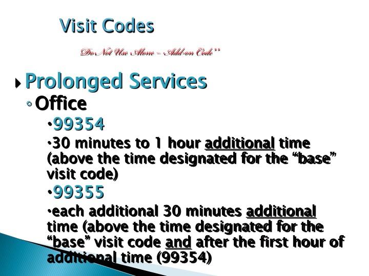 Visit Codes