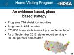 home visiting program an evidence based place based strategy