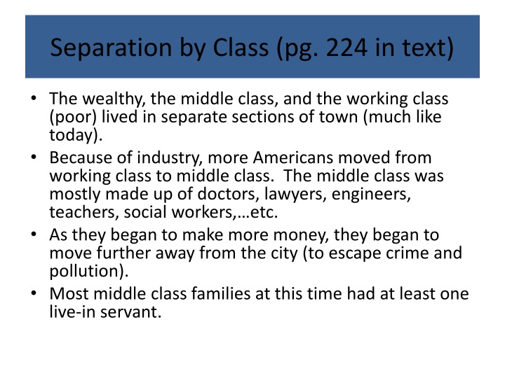 Separation by Class (pg. 224 in text)