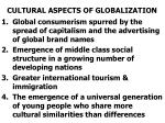 cultural aspects of globalization