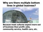 why are there multiple bottom lines in global business