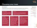 choosing your team