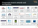 corporate team s awards and recognition