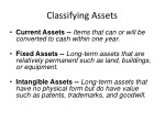 classifying assets