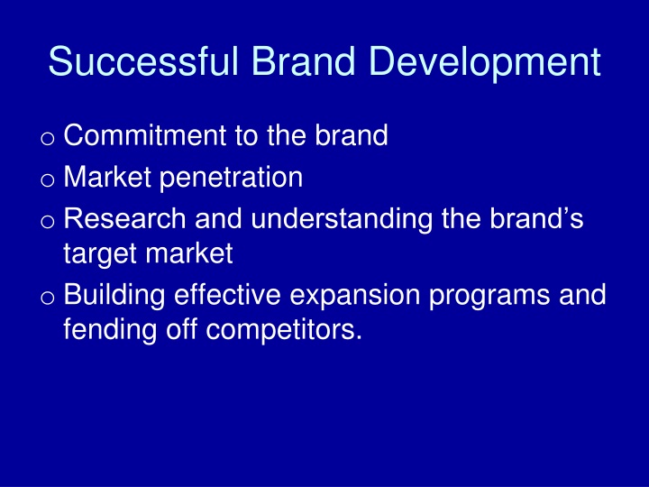 Successful Brand Development