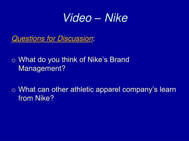 Video – Nike