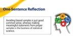 one sentence reflection