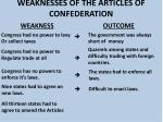 weaknesses of the articles of confederation8