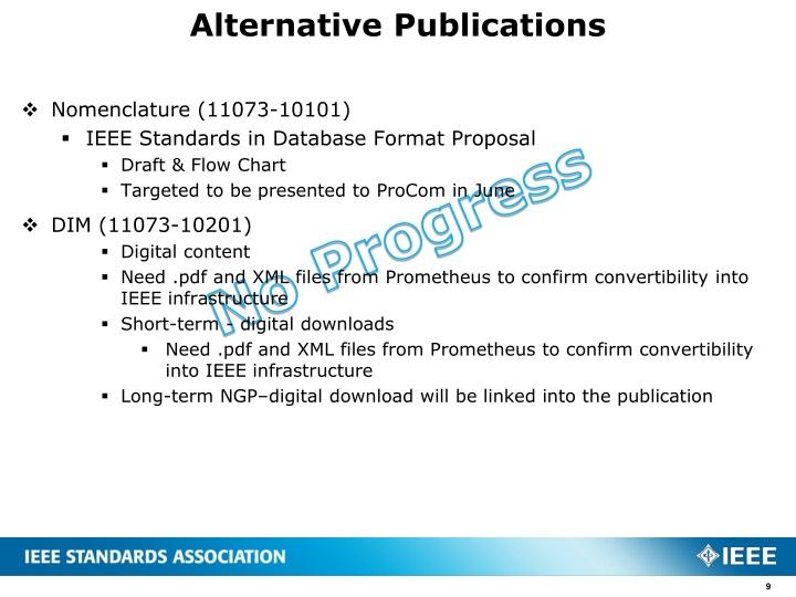 Alternative Publications