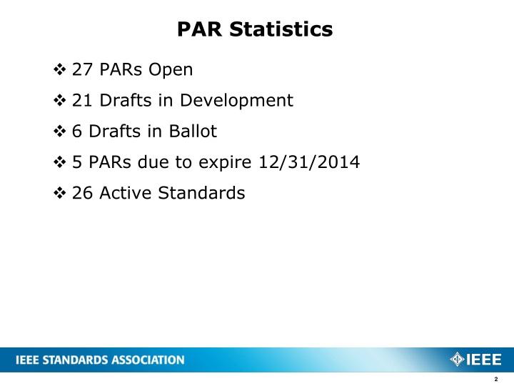 PAR Statistics