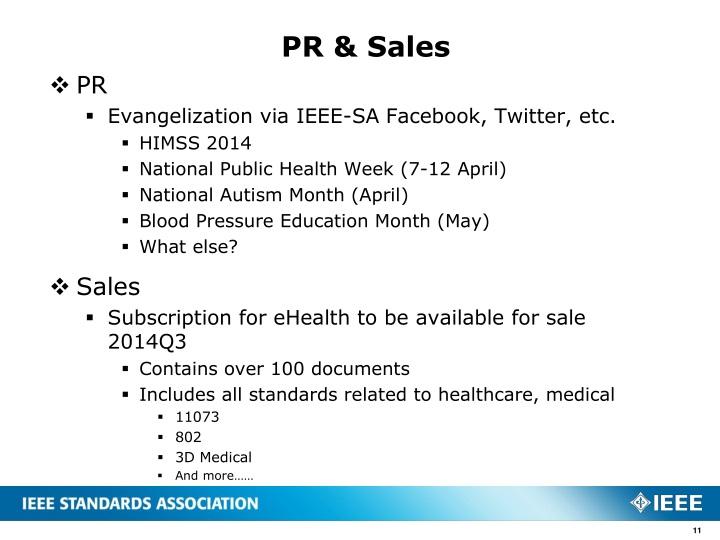 PR & Sales