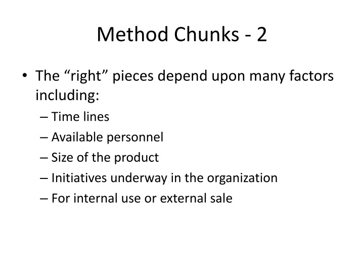Method Chunks - 2