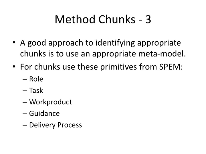 Method Chunks - 3