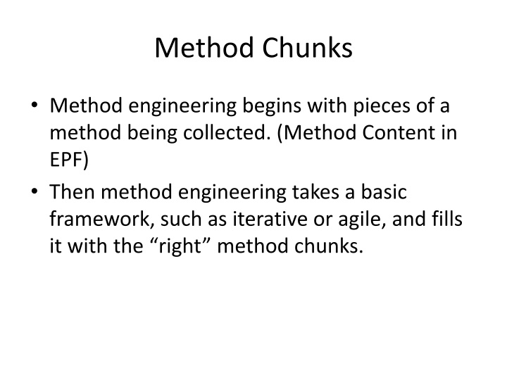 Method Chunks