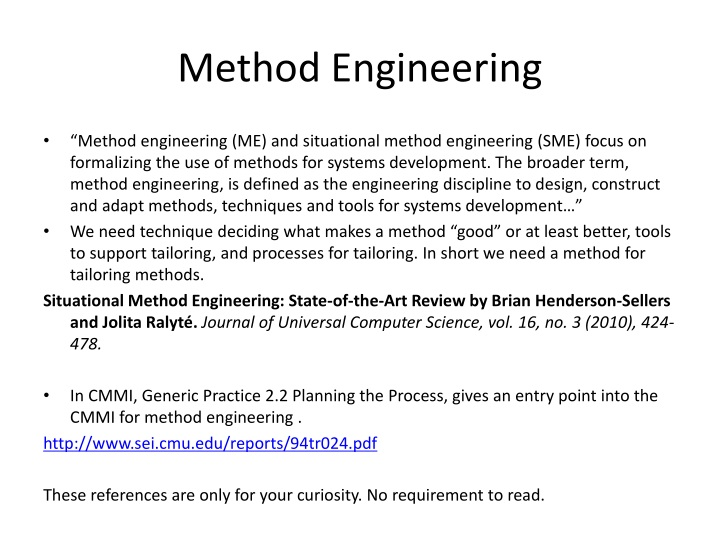Method Engineering