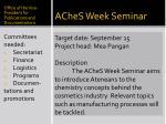 aches week seminar