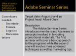 adobe seminar series