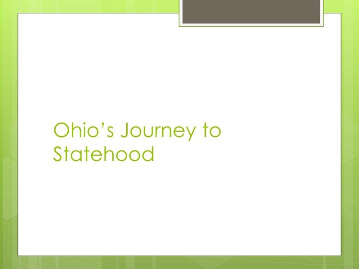 Ohio's Journey to Statehood