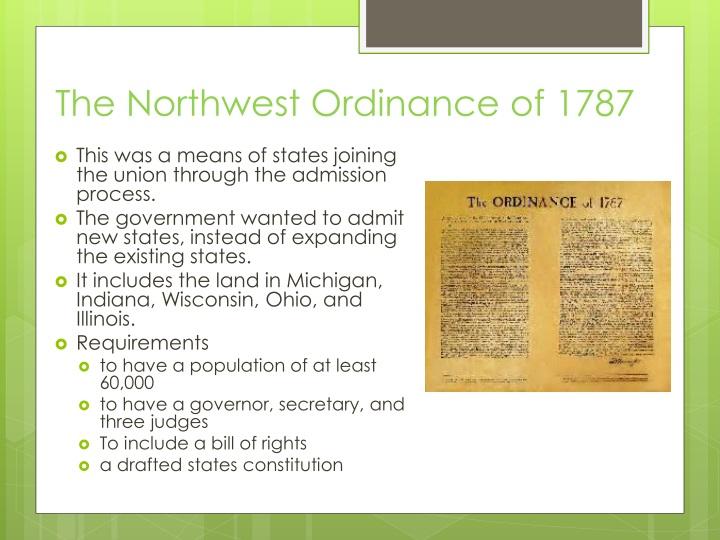 TheNorthwest Ordinanceof 1787