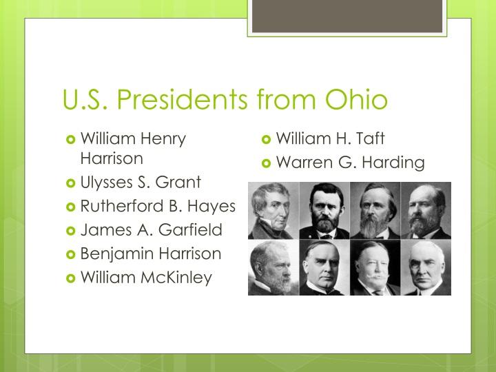 U.S. Presidents from Ohio