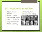 u s presidents from ohio