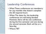 leadership conferences