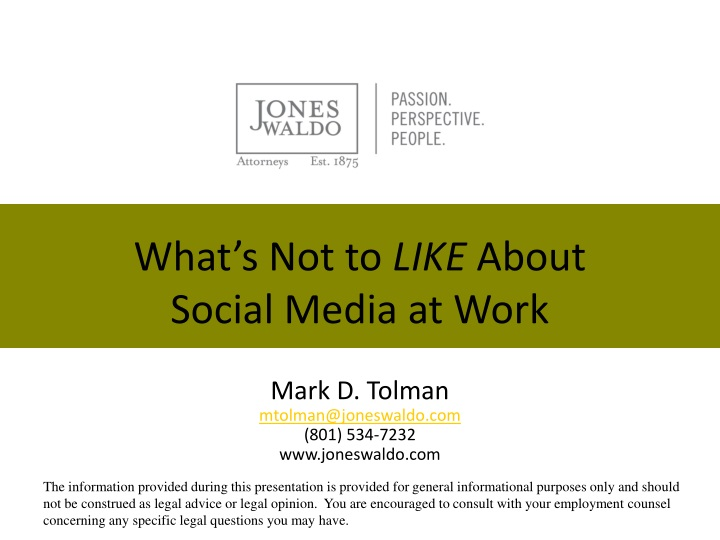 What s not to like about social media at work