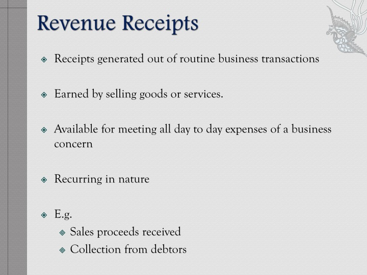 Revenue Receipts