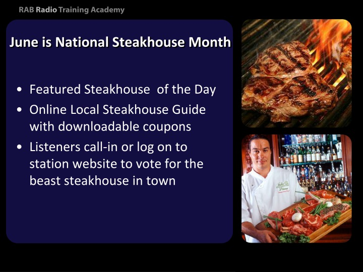June is National Steakhouse Month