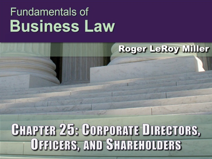 Chapter 25 corporate directors officers and shareholders