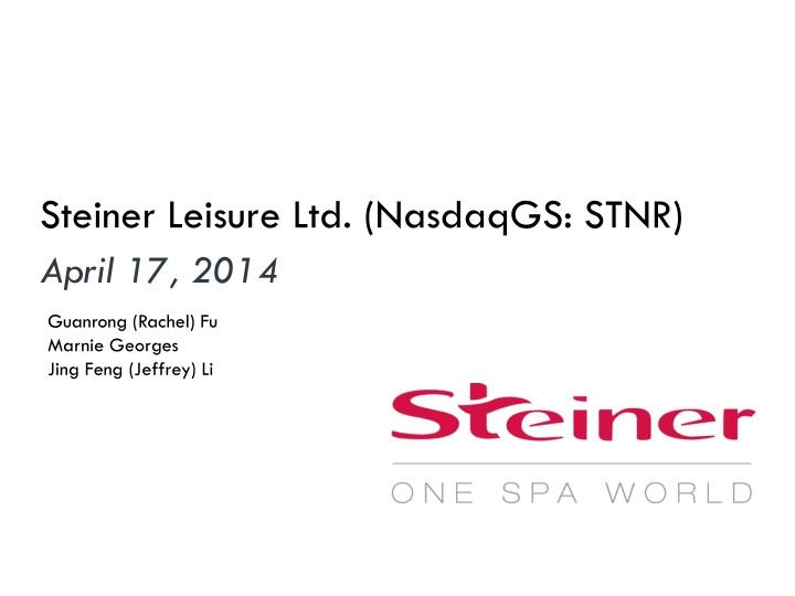 Steiner Leisure Ltd. (