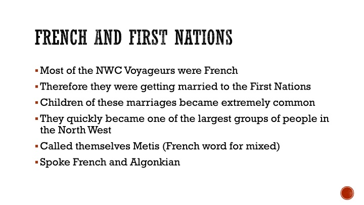 French and First Nations