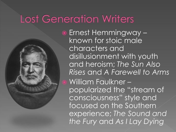 Lost Generation Writers
