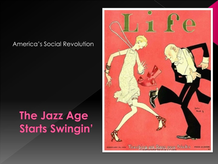 The Jazz Age Starts