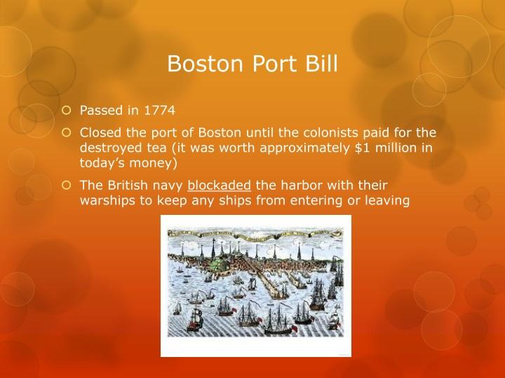 Boston Port Bill