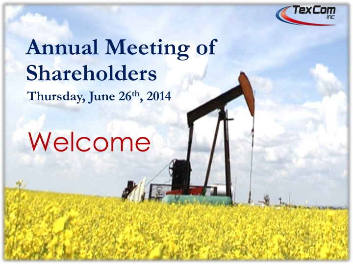 Annual meeting of shareholders