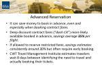 advanced reservation