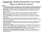 chapter 46 redefining equality from black power to affirmative action