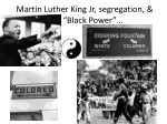 martin luther king jr segregation black power