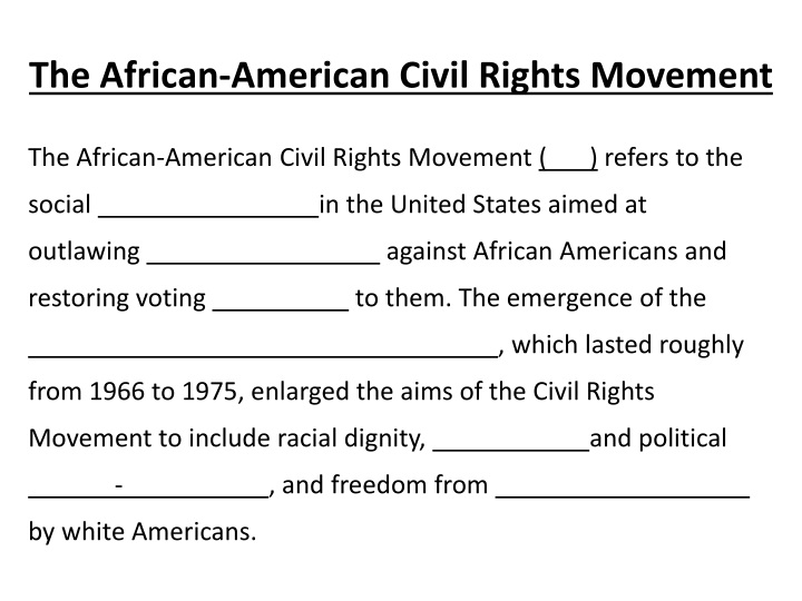 The African-American Civil Rights