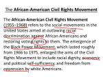 the african american civil rights movement1